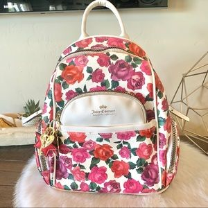 Juicy Couture floral small leather backpack